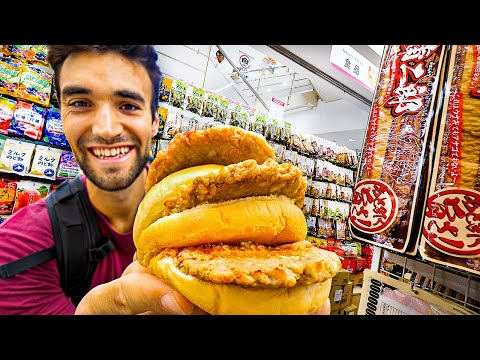 LIVING On DOLLAR STORE FOODS For 24 HOURS In TOKYO!