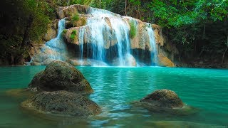 Entspannungsmusik - Natur Tiefenentspannung, Stressabbau - 4K Wasserfall