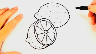 How to draw a Lemon | Lemon Drawing Lesson Step by Step