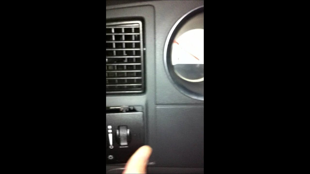 Dodge Light Switch And Fog Repair