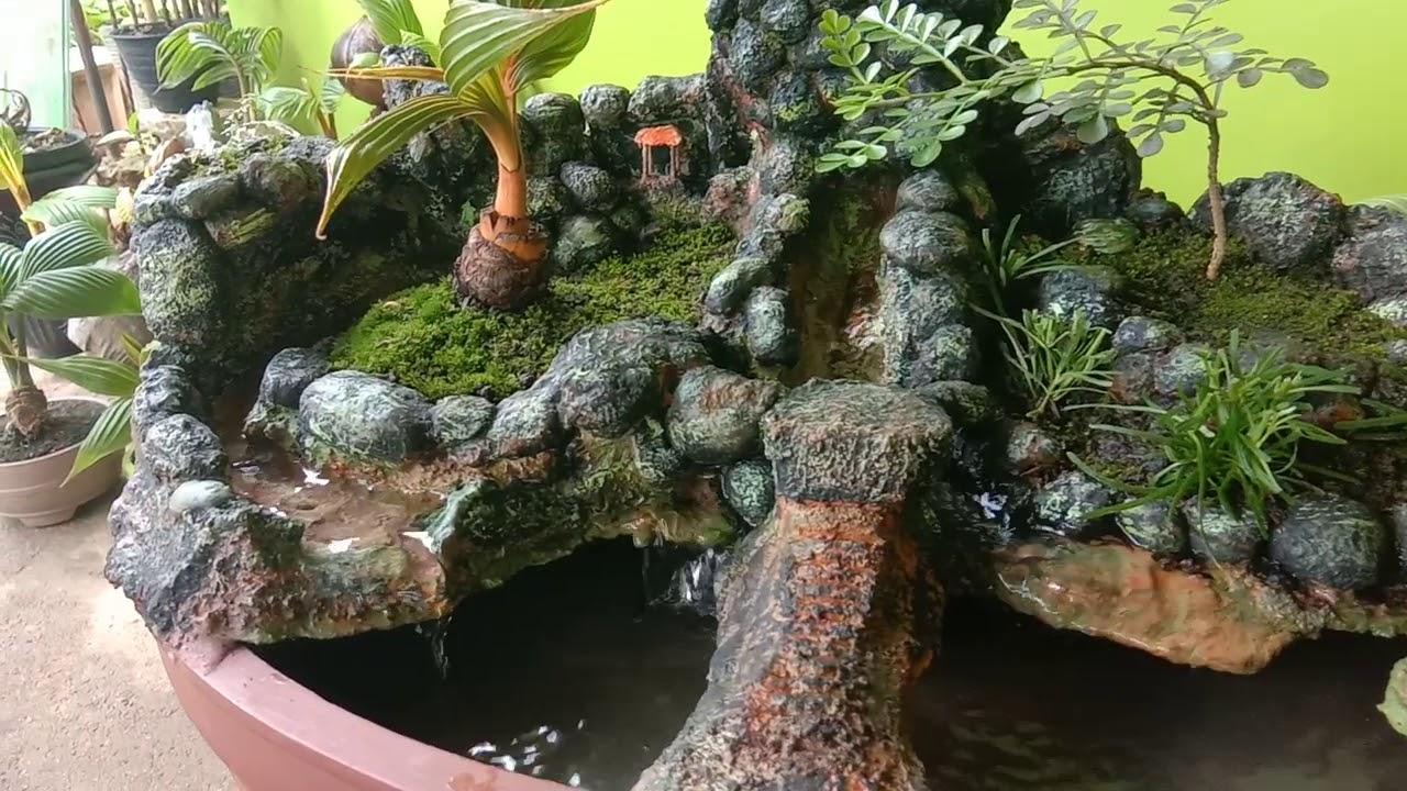 Bonsai Kelapa Air Terjun Waterfall Coconut Bonsai Youtube