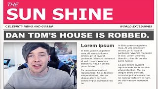 BREAKING NEWS! DANTDM'S HOUSE GETS ROBBED WHILE PLAYING ROBLOX