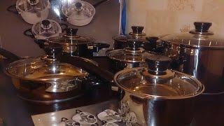 Набор посуды BergHOFF Vision Premium из 12 предметов 1112466 UNBOXING