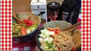 Thai Inspired Peanut Sesame Noodles With Spiral Ninja