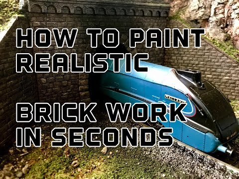 Building A Model Railway Part 2 : How To Paint Realistic Brick Work