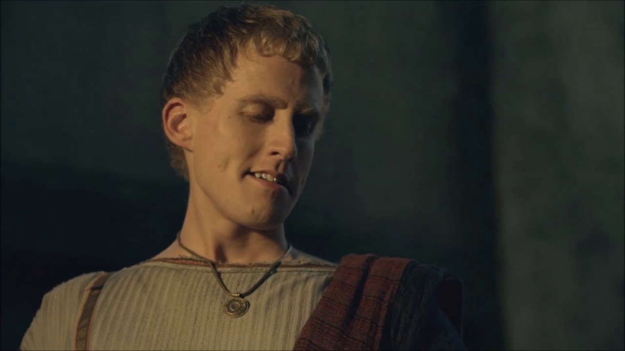 Download Tullius pees Batiatus in the face - Spartacus Gods of the Arena