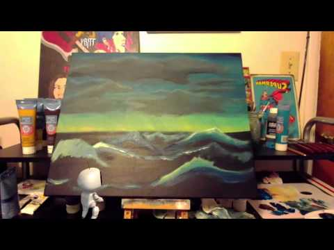 Stormy Ocean Acrylic Painting Part 2