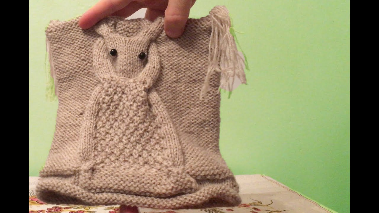 Hand Knitted Owl Hat for Women - YouTube