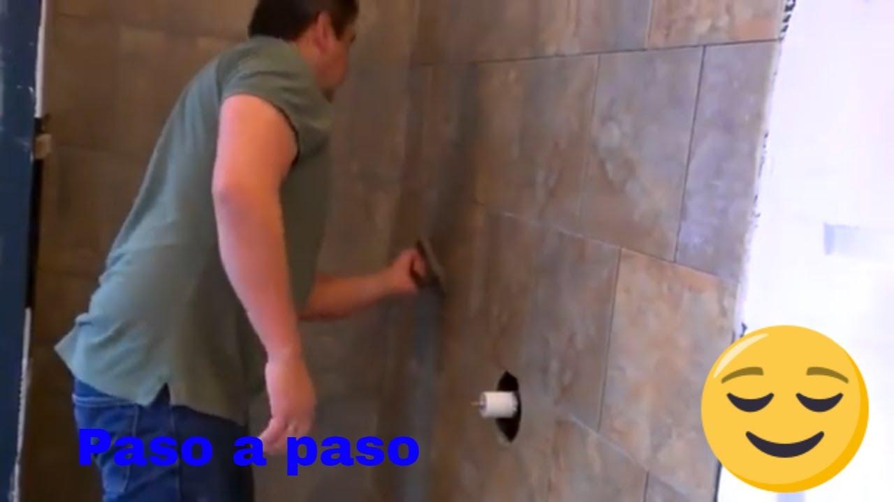 Como aplicar boquilla o lechada en paredes y pisos youtube for Materiales para hacer un piso