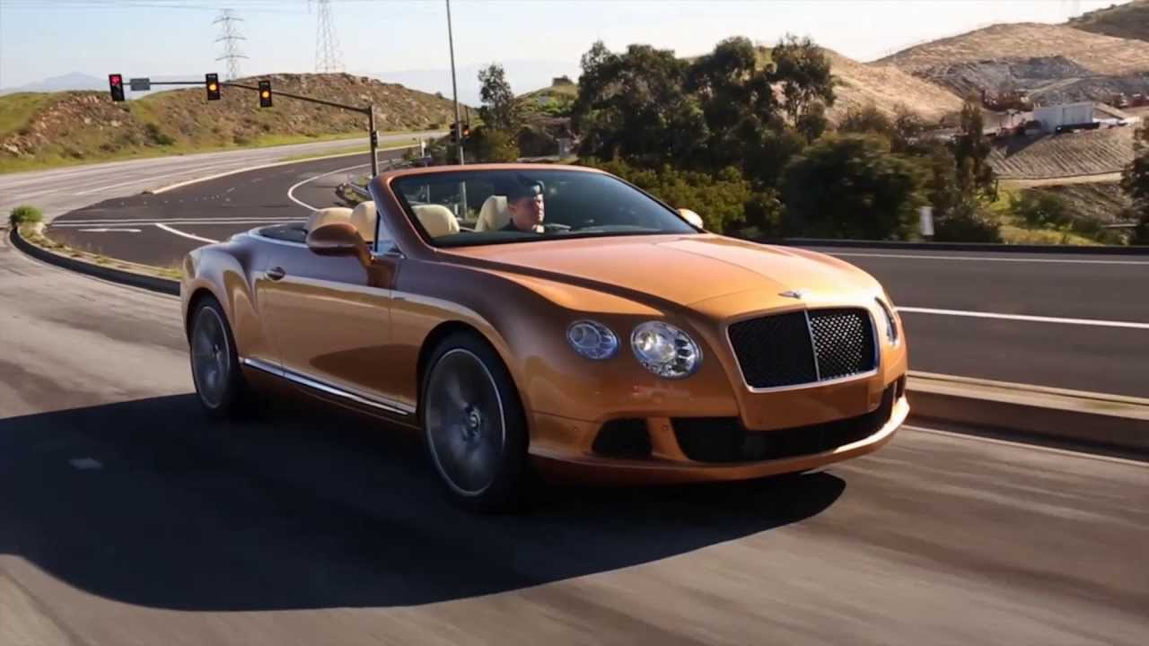 Bentley Continental Gt Speed Convertible Sunburst Gold Youtube