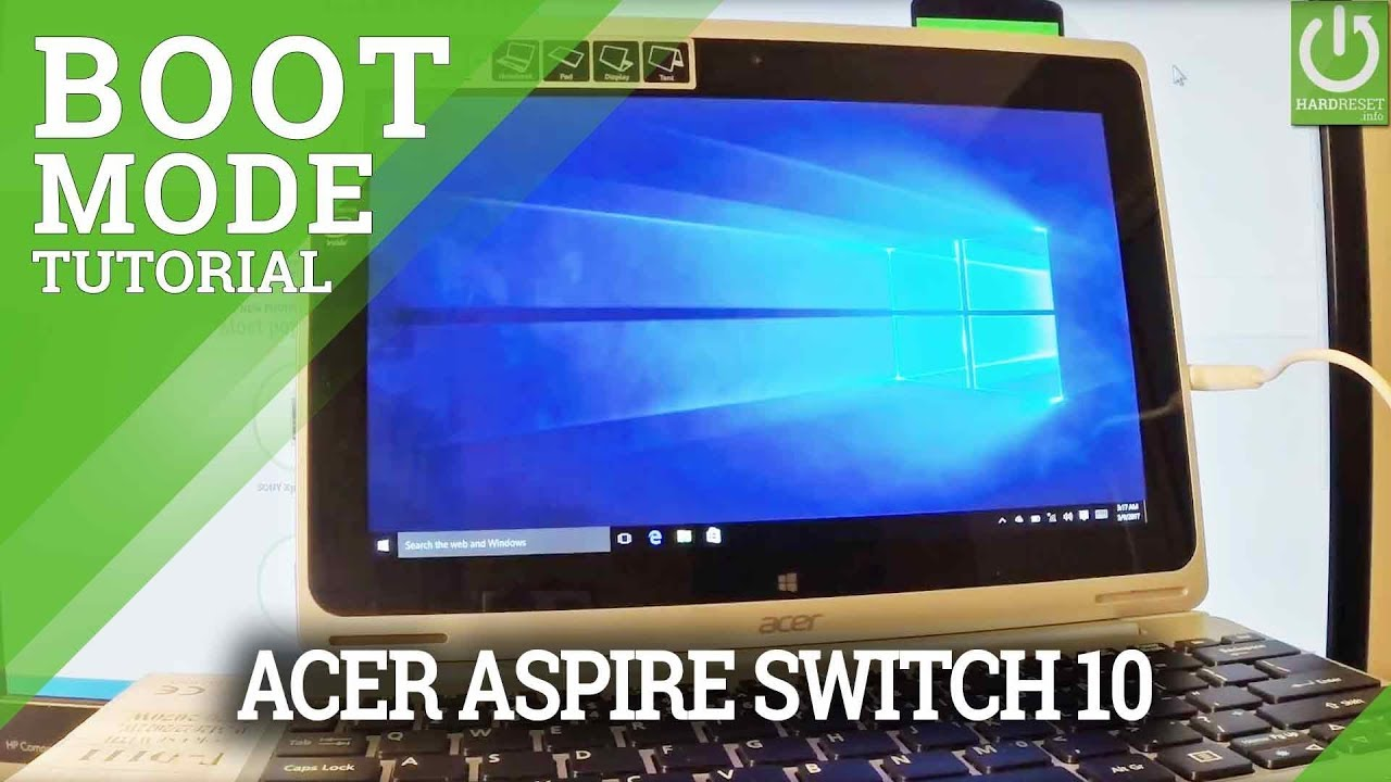acer switch 10 no bootable device