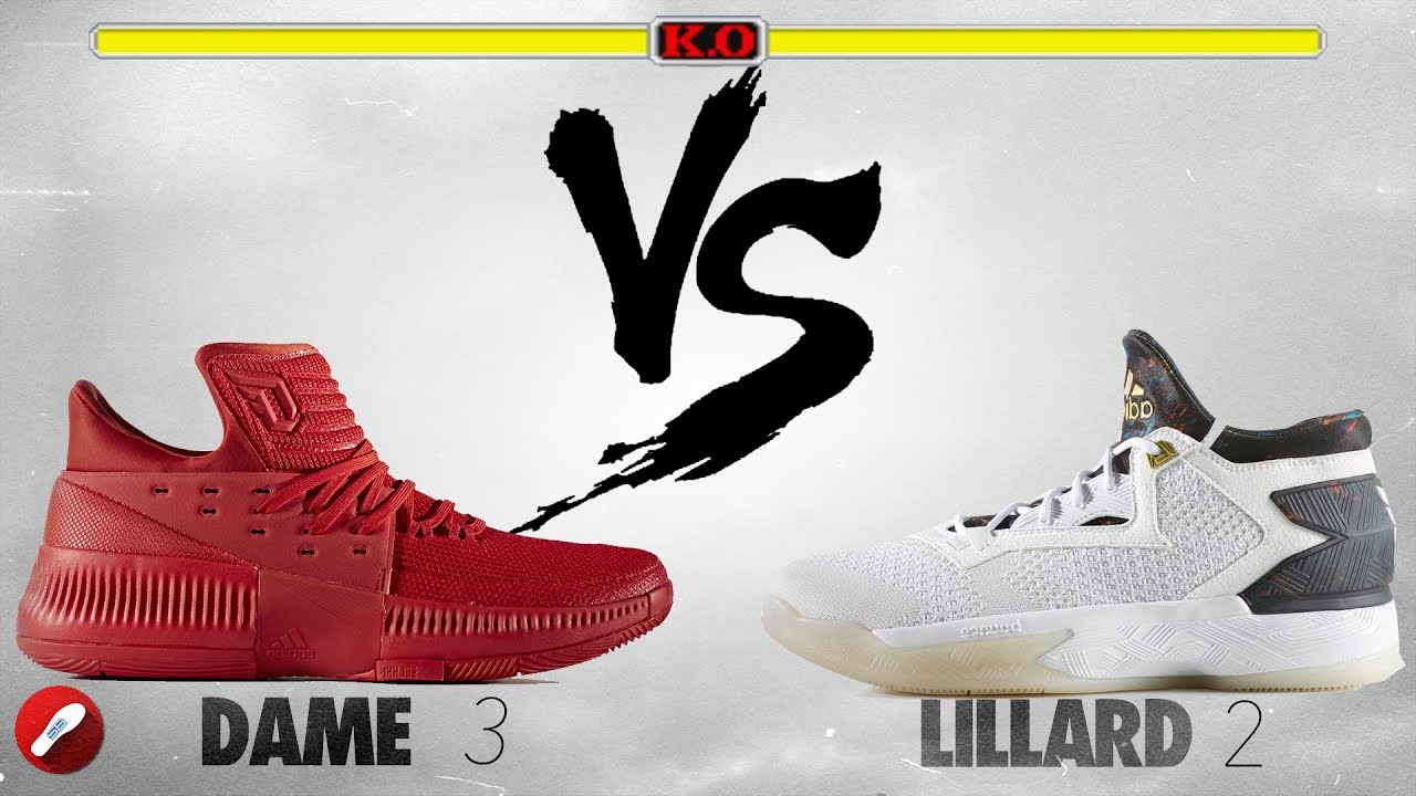 Adidas Dame 3 vs D Lillard 2! - YouTube 0da537985