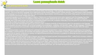 How to : Learn pennsylvania dutch