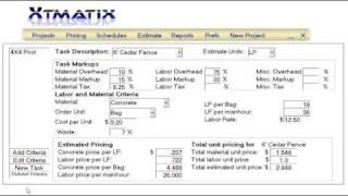 Xtmatix Estimating - Let's Build A Fence Part 1