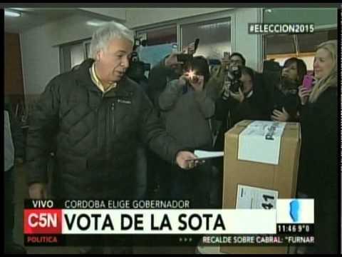 C5N - ELECCION 2015: VOTO DE LA SOTA EN CORDOBA