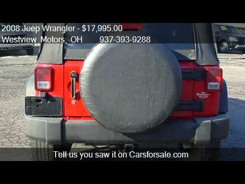 2008 Jeep Wrangler Unlimited X 4wd For Sale In Hillsboro