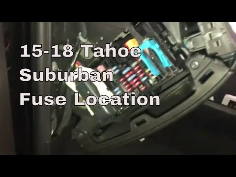 [SCHEMATICS_4US]  2015-2020 Tahoe/ Suburban fuse box location - YouTube | 2015 Tahoe Fuse Diagram |  | YouTube