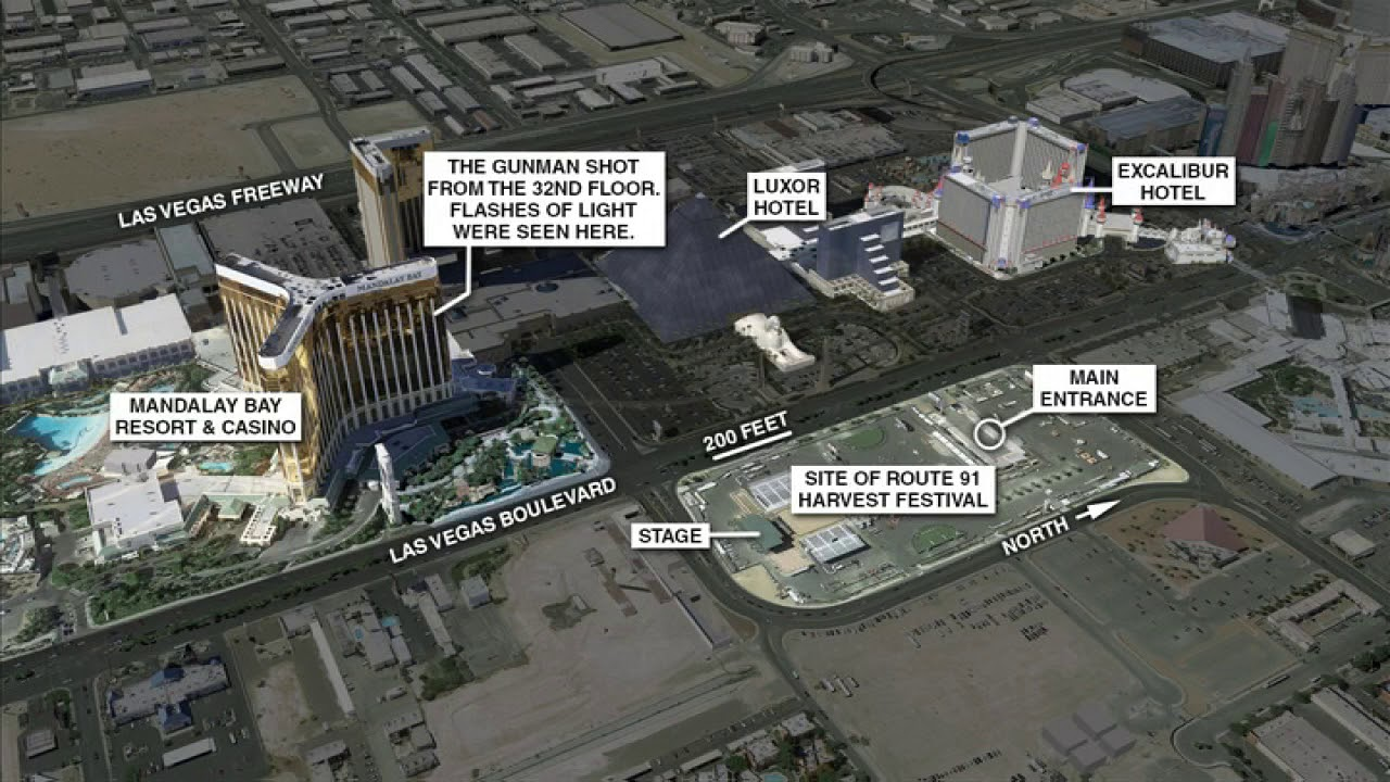 Las Vegas shooting maps YouTube