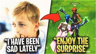12 Year OLD Got BULLIED, So I Surprised Him With MINTY PICKAXE CODE.. (Fortnite)
