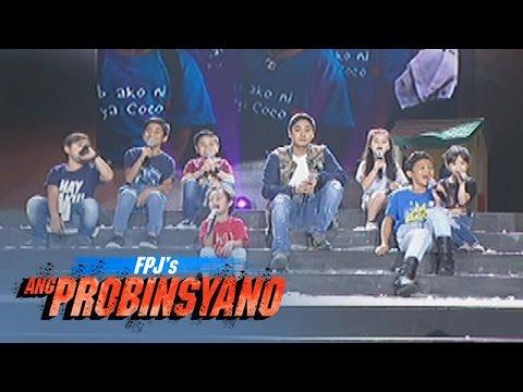 """Coco Martin sings """"Batang Bata Ka Pa"""" with kids   FPJ's Ang Probinsyano The Anniversary Concert"""