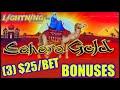 HIGH LIMIT Lighting Cash Link Sahara Gold (3) $25 Bonus Rounds Slot Machine Casino