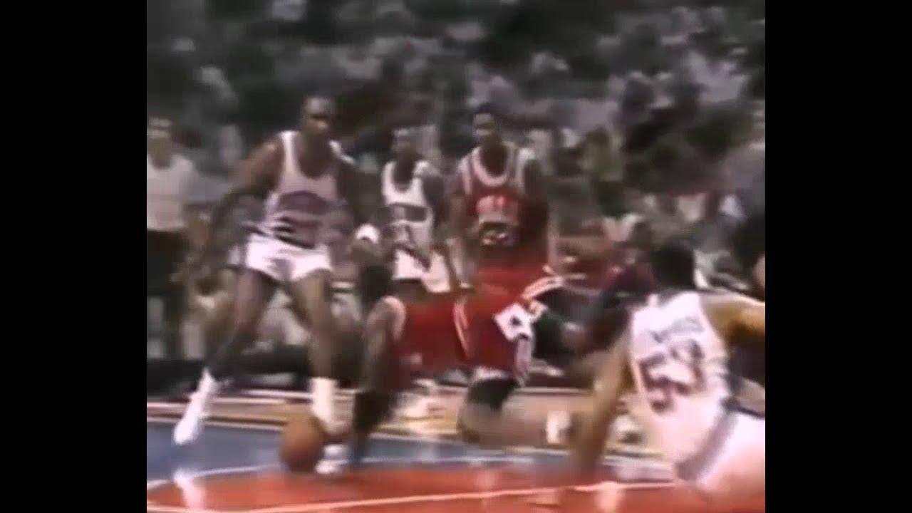 Michael Jordan 1991 ECF HIGHLIGHTS(BULLS VS PISTONS)
