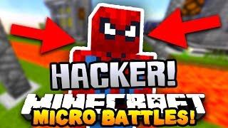 """Minecraft MICRO BATTLES """"SPIDER MAN HACKER!"""" #41 w/PrestonPlayz & Kenny"""