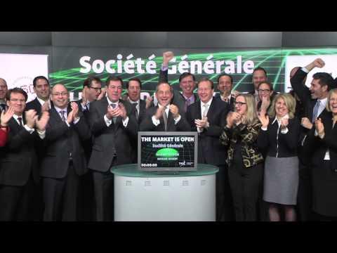 Société Générale opens Toronto Stock Exchange, December 18, 2014