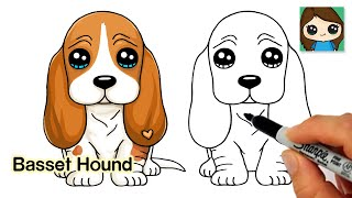 How to Draw a Basset Hound Puppy Dog Easy