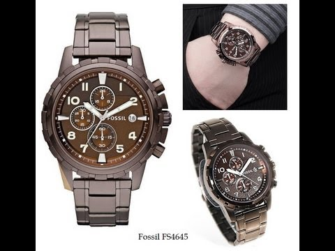 7c32b964c91 Fossil Dean Stainless Steel Watch Brown For Men Model  FS4645 ...