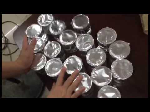 Automated plastic jar foil heat sealing closing equipment sealer for jars