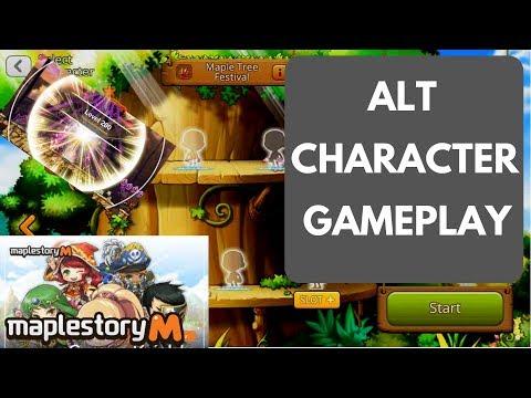 Maplestory M Gameplay Level 1-80 Alt Account Walkthrough