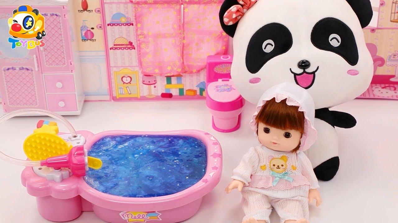 묘묘의 아기 돌보기 | 아기인형 | 목욕해요 | 장난감놀이 | 베이비버스 장난감 친구들