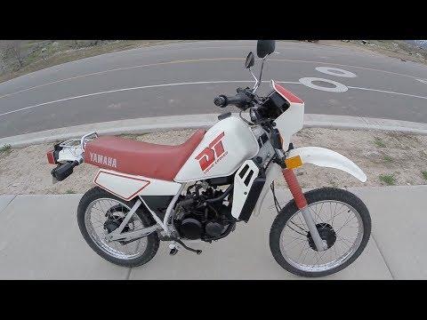 Yamaha DT50 Test Ride & Top Speed Run (1988 model)