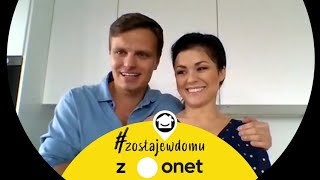 Kasia Cichopek i Marcin Hakiel: spędzamy minirandki w łazience! | #zostajewdomu z Onet