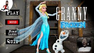 Granny is Elsa (frozen) ► Granny Princess mod ► Speedrun and Car Escape
