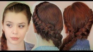 MW Прическа на каждый день средние волосы как плести