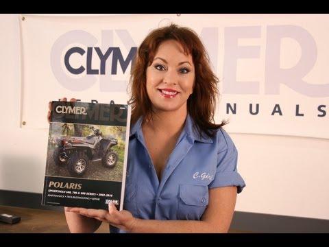 Clymer Manuals Polaris Sportsman 600 700 800 ATV Four Wheeler Maintenance Repair Shop Manual Video