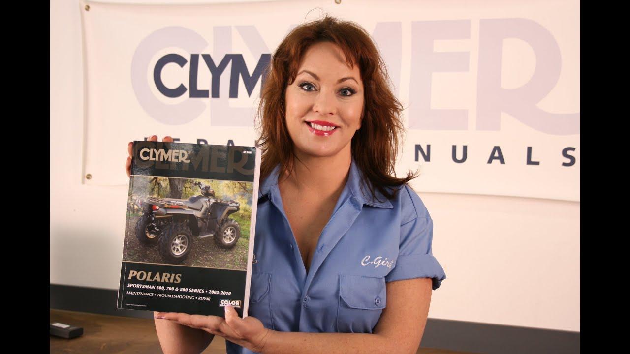 small resolution of clymer manuals polaris sportsman 600 700 800 atv four wheeler maintenance repair shop manual video
