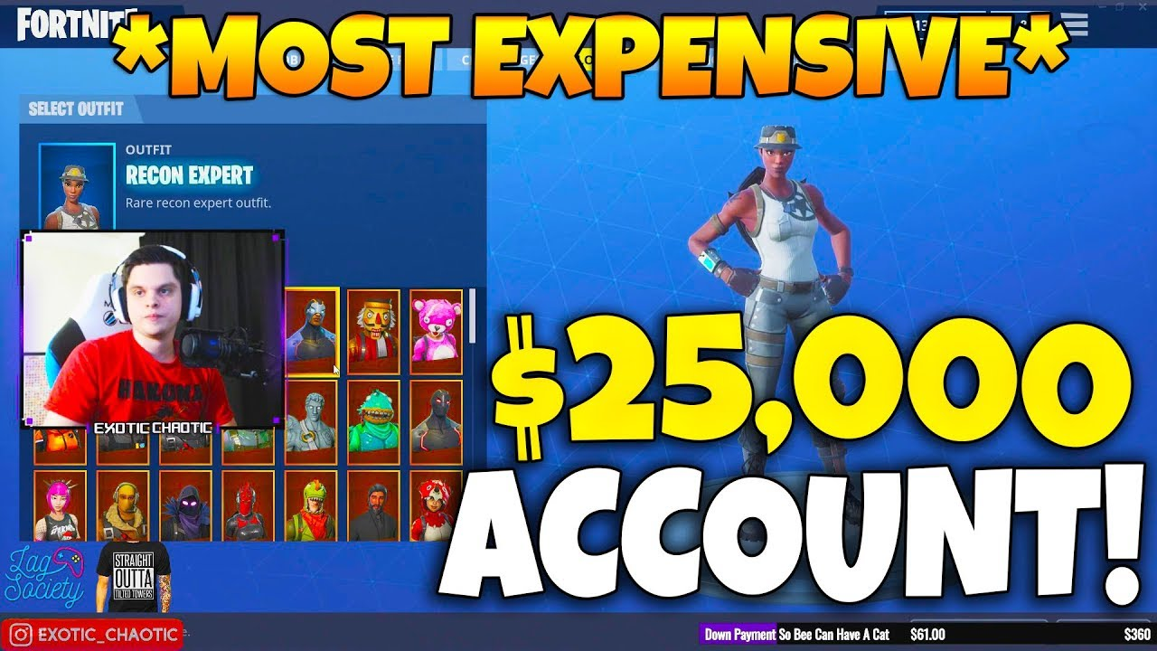 Epic Confirmed The Most Expensive Fortnite Account Ever Every Skin Released Fortnite Moments 189 Youtube How to make a fortnite account (epic games account) on your phone! epic confirmed the most expensive fortnite account ever every skin released fortnite moments 189