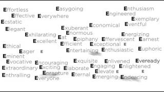 E for Extentia! What else does E stand for?
