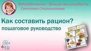 Светлана Стрельникова Как составить рацион? Пошаговое руководство
