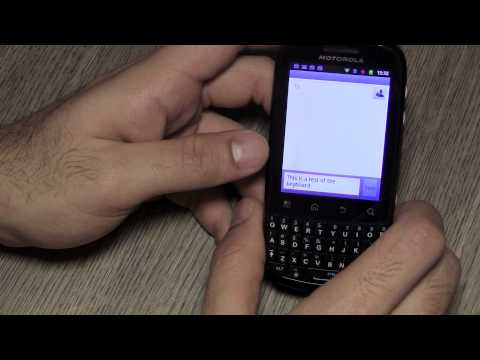 Motorola Fire Full Review Touch Type qwerty Android 2.3.4