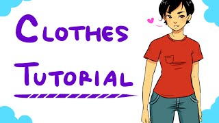 How to Draw Clothes Pt. 1 (Manga style)