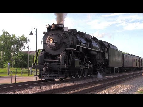 Steam Engine NKP 765 -- June 2016 Excursion to Janesville, Wisconsin (Includes Drone Footage!)