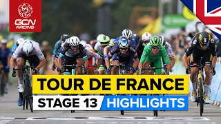 Tour de France 2021 Stage 13 Highlights   Can Mark Cavendish Equal Eddy Merckx's Stage Wins Record?