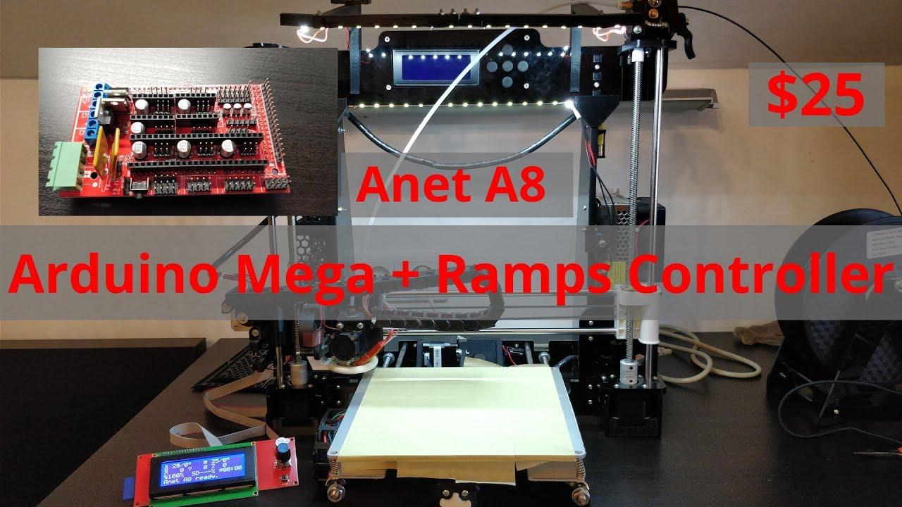 Anet A8 Controller Upgrade Arduino Mega Ramps Youtube 14 Arduin 2560