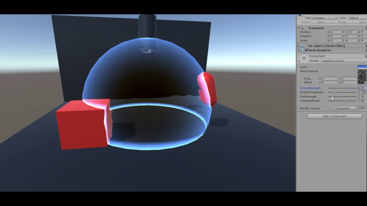 Unity Force Field Shader