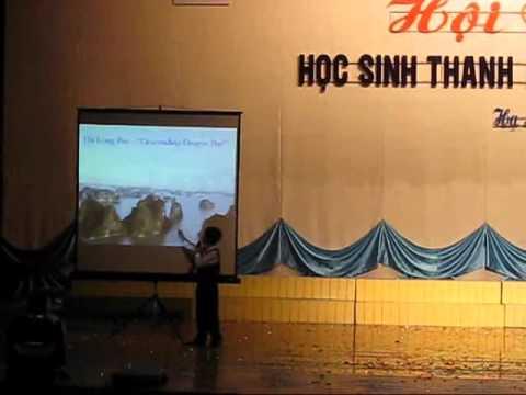 Thuyết trình về Vịnh Hạ Long bằng Tiếng Anh của Thế Đức - 7 tuổi