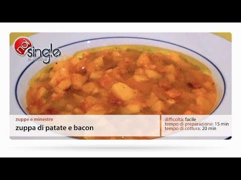 Zuppa di patate e bacon